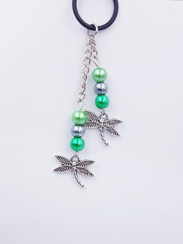 Silverpaw Creations  - Vape Charms - Dragon Fly Charm - Greens