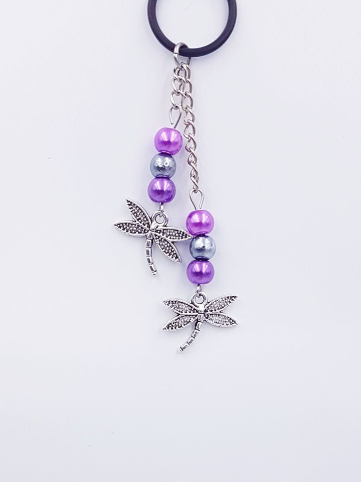 Silverpaw Creations  - Vape Charms - Dragon Fly Charm - Purples