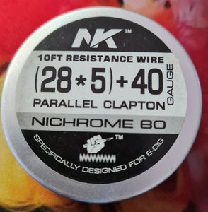 Ni80 5 Core Parallel Fused Clapton - 28G*5/40g - 10ft