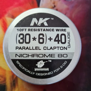 Ni80 6 Core Parallel Fused Clapton - 30G*6/40g - 10ft