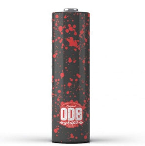 ODB Battery Wrap - RED SPLATTER - 18650
