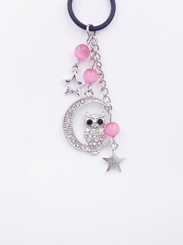 Silverpaw Creations  - Vape Charms - Owl Charm - Pink Moon Beads