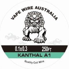 Vape Wire Australia Kanthal KA1 Ribbon / Flat Wire 0.1x0.3 250ft