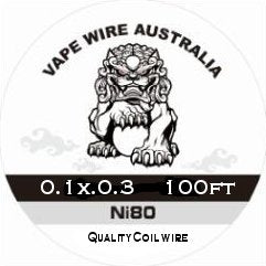 Vape Wire Australia Ni80 Ribbon / Flat wire 0.1x0.3 100ft
