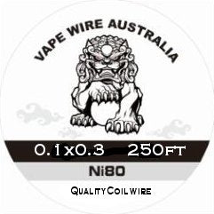 Vape Wire Australia Ni80 Ribbon / Flat wire 0.1x0.3 250ft