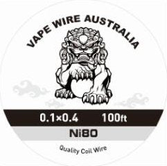 Vape Wire Australia Ni80 Ribbon / Flat wire 0.1x0.4 100ft