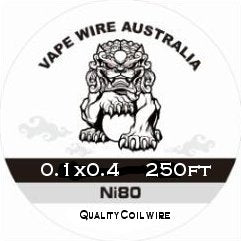 Vape Wire Australia Ni80 Ribbon / Flat wire 0.1x0.4 250ft