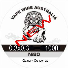 Vape Wire Australia Ni80 SQUARE WIRE 0.3x0.3 100ft