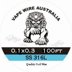 Vape Wire Australia SS Ribbon / Flat Wire 0.1x0.3 100ft