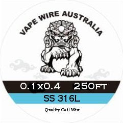 Vape Wire Australia SS Ribbon / Flat Wire 0.1x0.4 250ft
