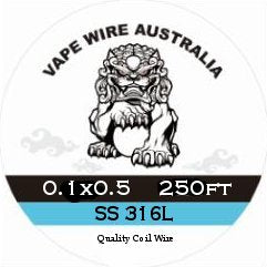 Vape Wire Australia SS Ribbon / Flat Wire 0.1x0.5 250ft