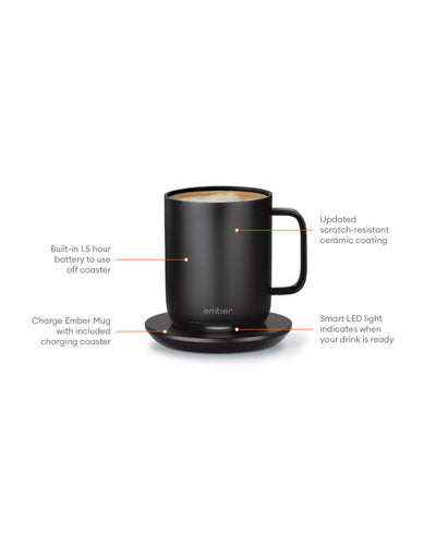 Electric Coffee Mug black, Office - Ember - Espresso Gear