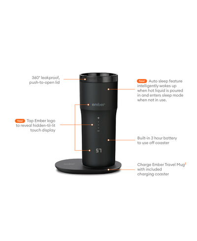 Electric Coffee Travelmug black - Ember - Espresso Gear