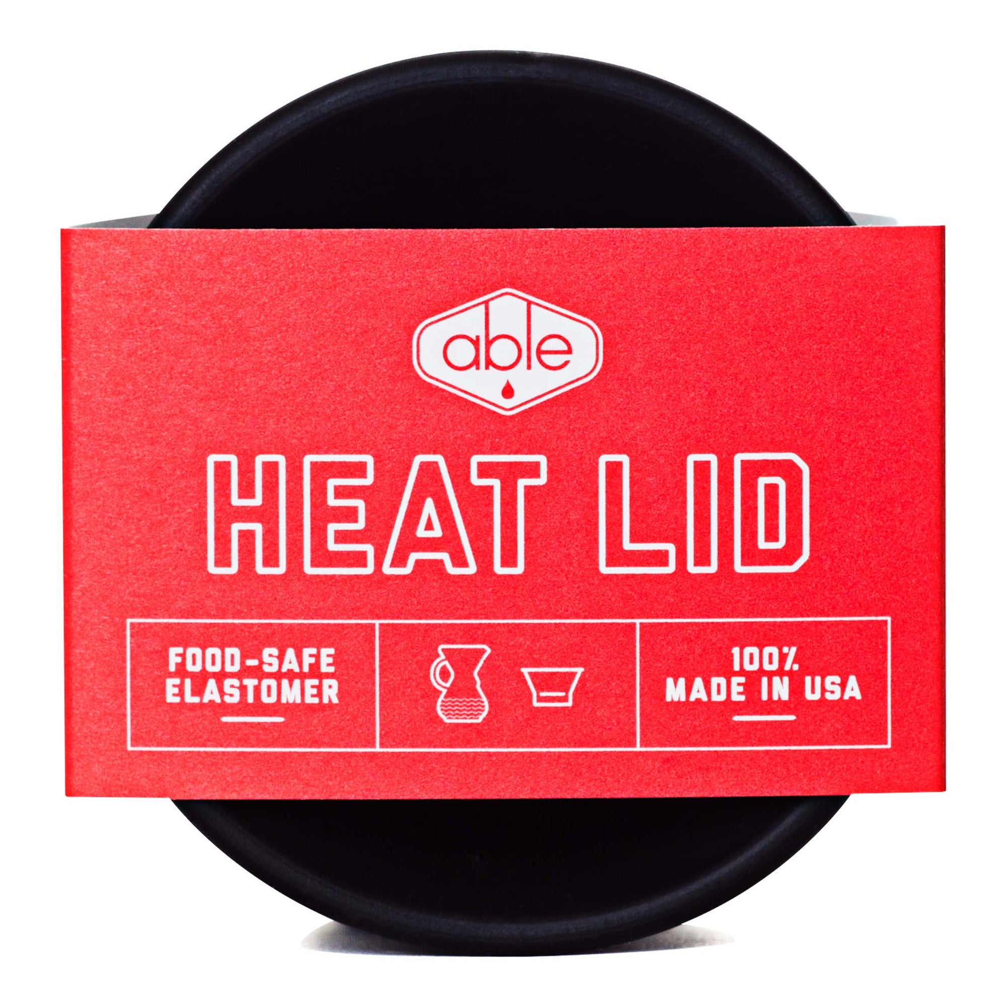 Heat Lid - Black - Able - Espresso Gear