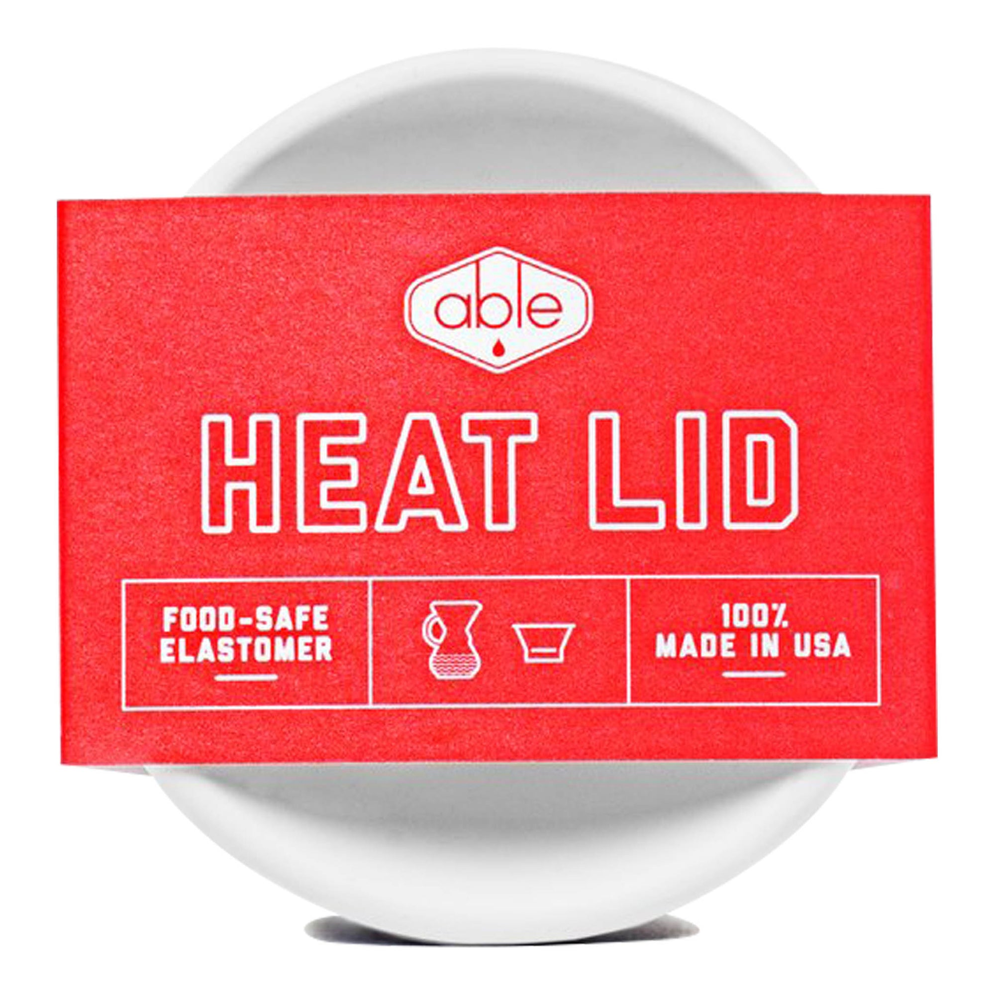 Heat Lid - White - Able - Espresso Gear