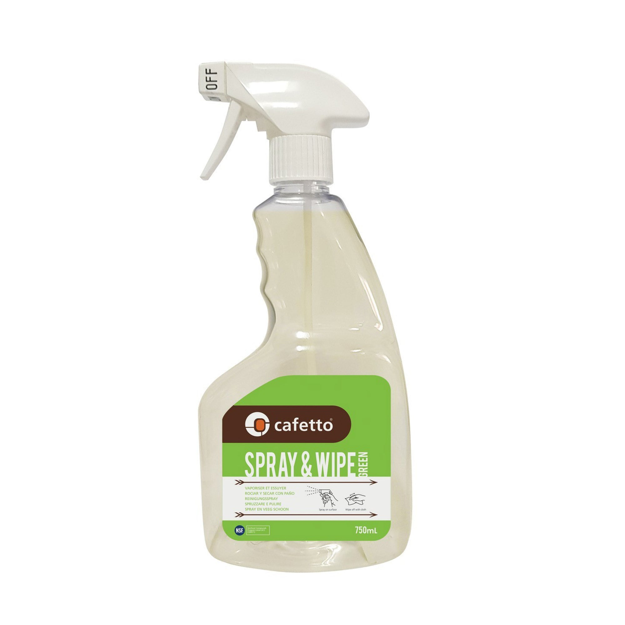 Spray & Wipe Organic 750ml - Cafetto - Espresso Gear