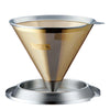 Filter Cores Gold Cone with lid / base
