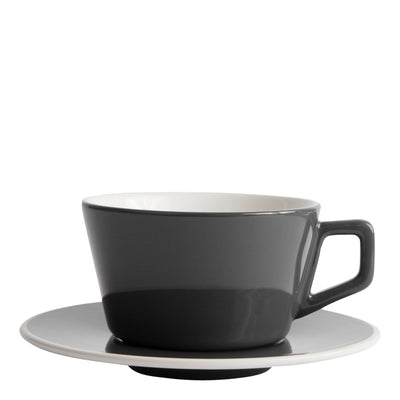 Porcelain Cup - Angled Large Latte Gray 12oz/36cl- Created Co - Espresso Gear