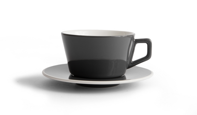 Porcelain Cup -  Angled Espresso Gray 3oz/9cl - Created Co - Espresso Gear