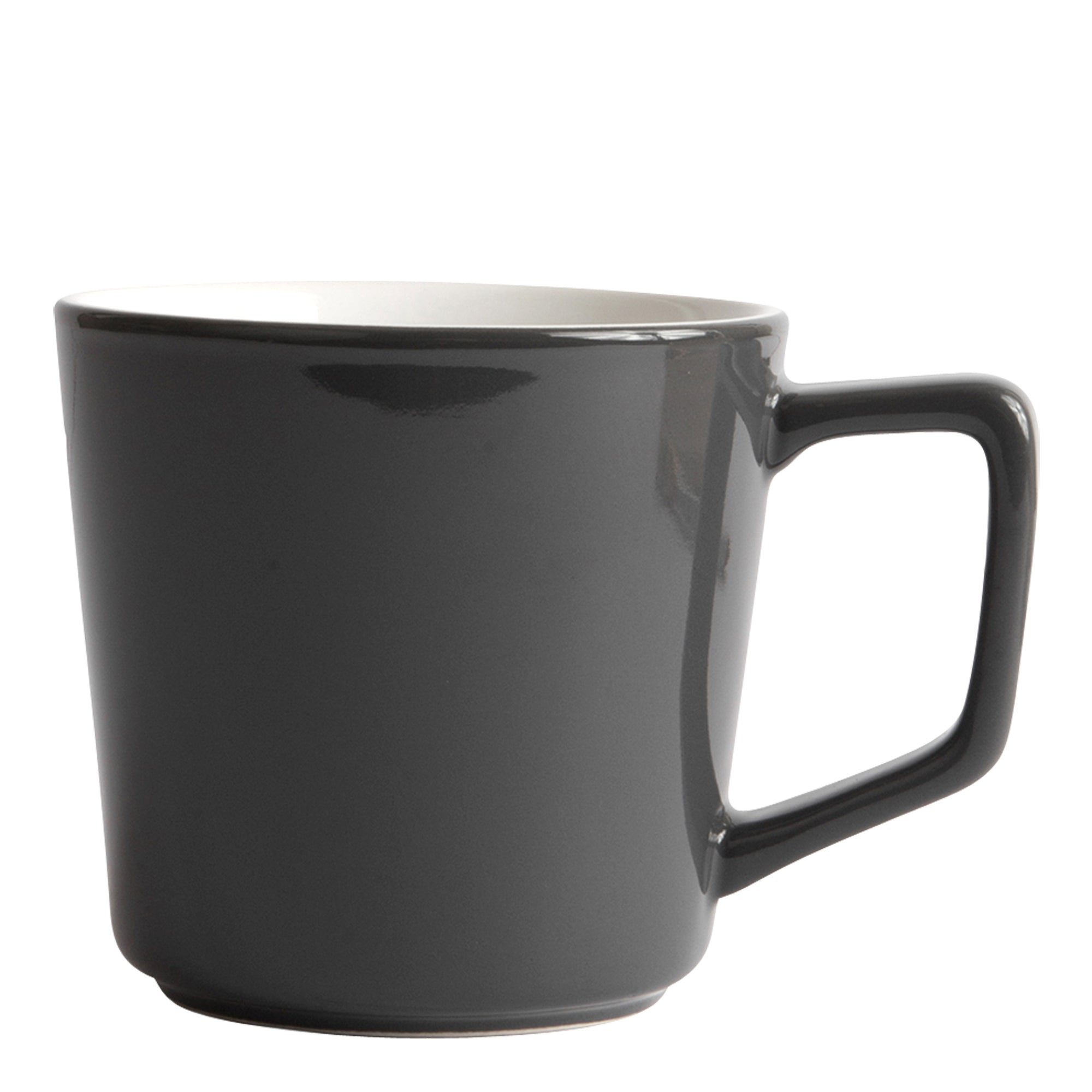 Porcelain Cup - Angled Mug Gray 12oz/ 36cl - Created Co - Espresso Gear