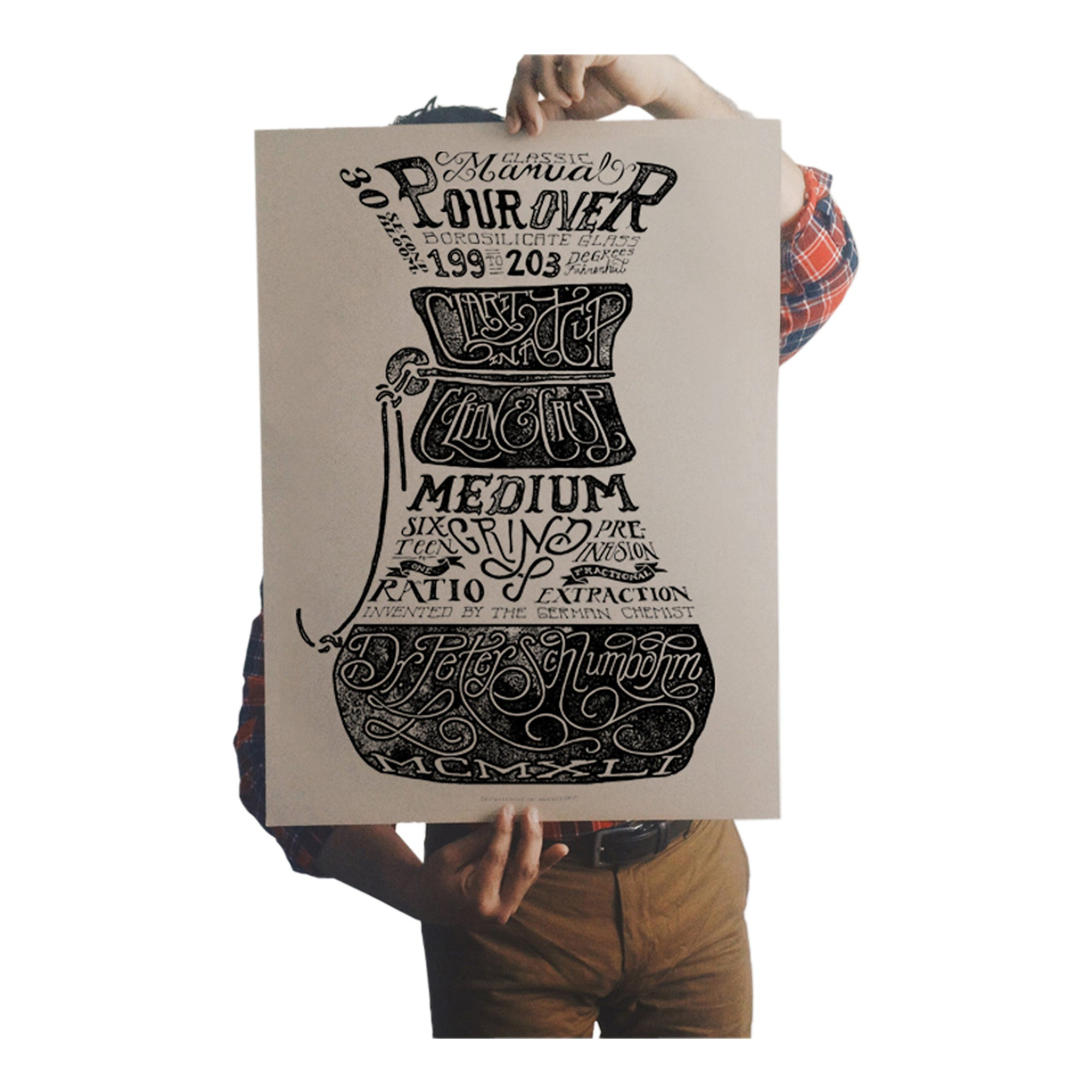 Poster - Pour Over - Dept of Brewology - Espresso Gear