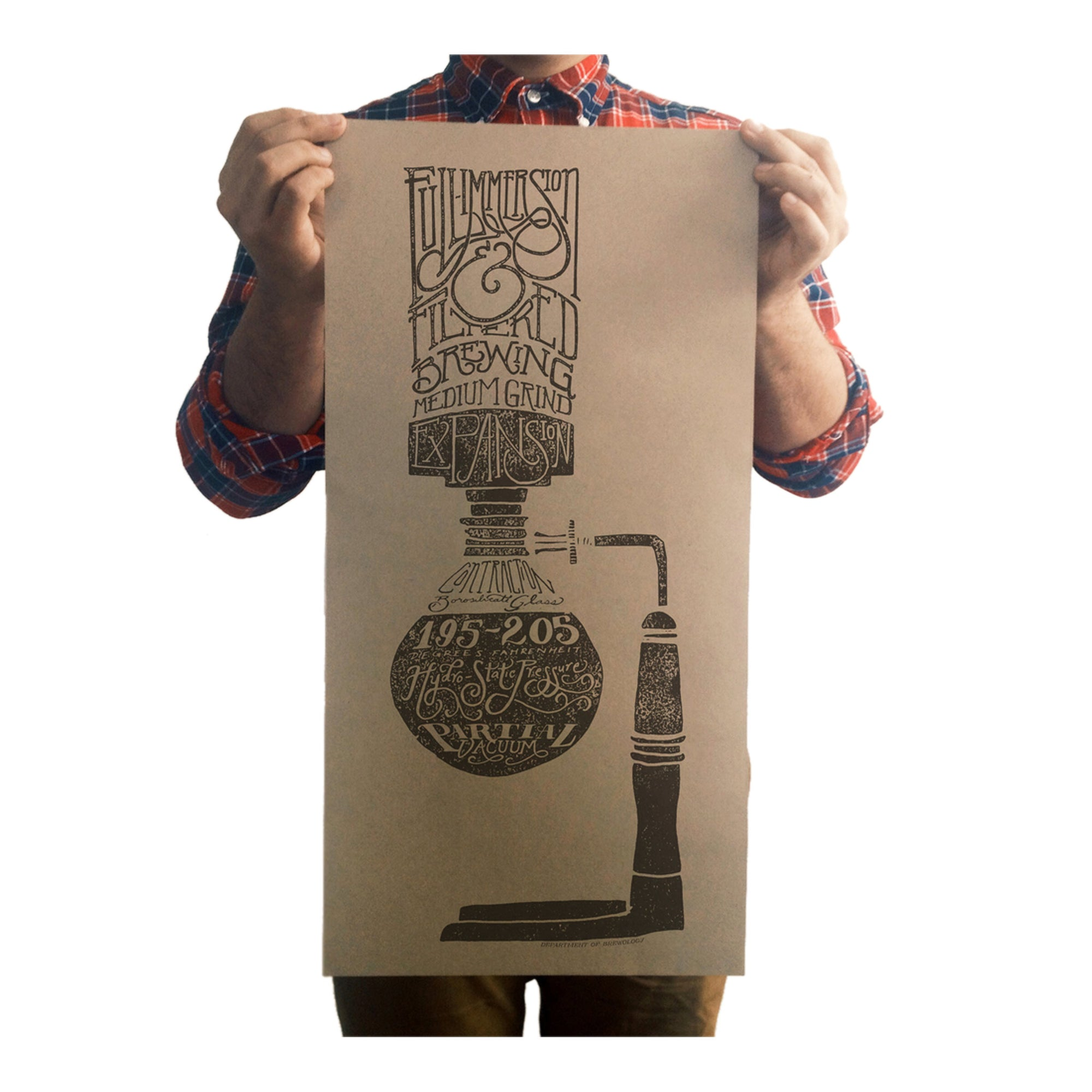 Department of Brewology Poster - Syphon - Espresso Gear