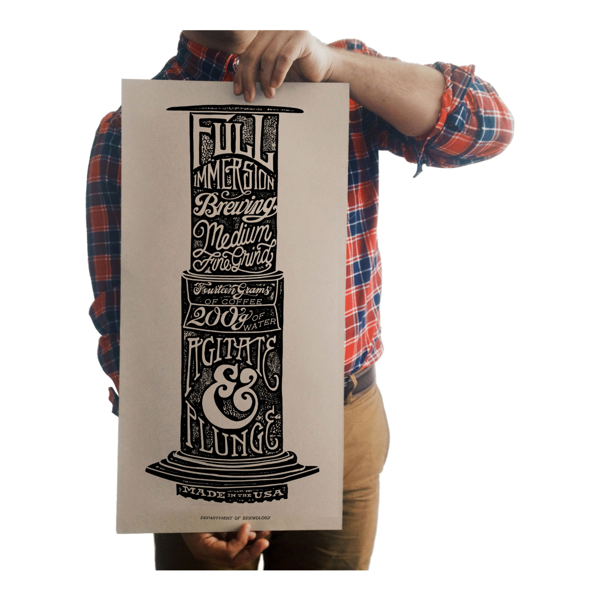 Poster - Aeropress - Dept of Brewology - Espresso Gear