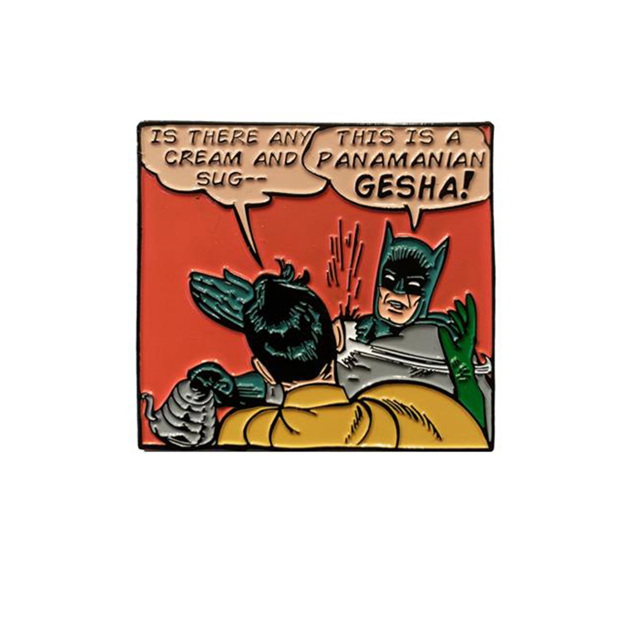 Batman Geisha Pin - Dept of Brewology - Espresso Gear