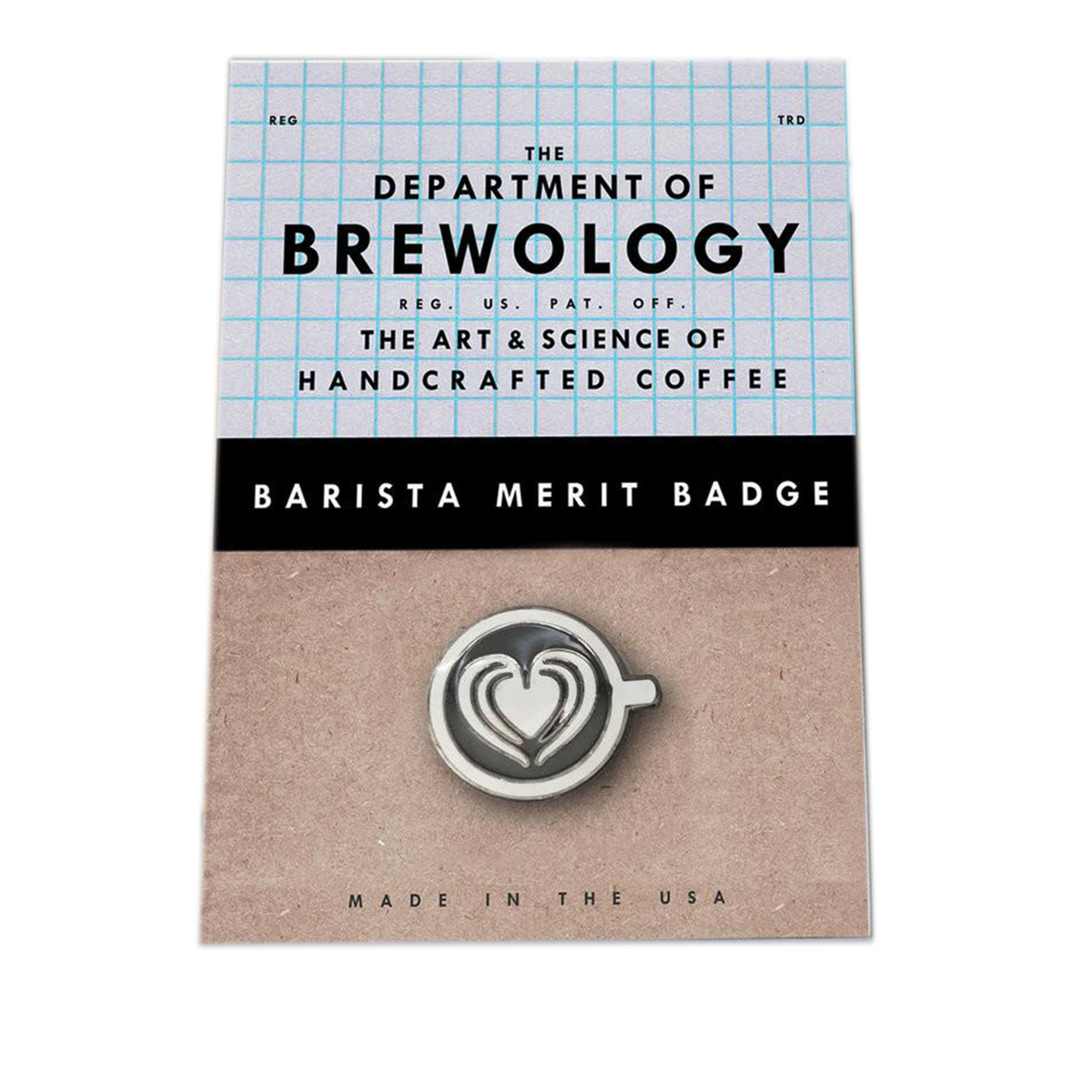 Barista Merit Badge - Heart - Dept of Brewology - Espresso Gear