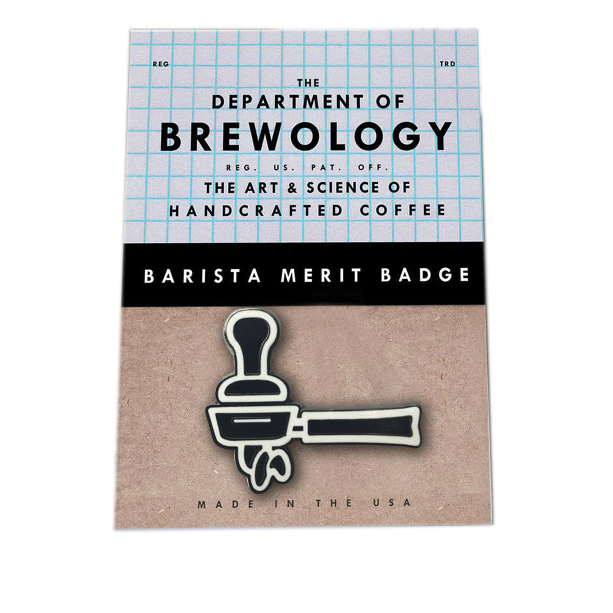Barista Merit Badge - Portafilter - Dept of Brewology - Espresso Gear