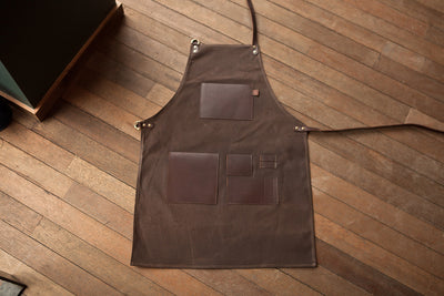 Espresso Gear Waxed Apron - Brown