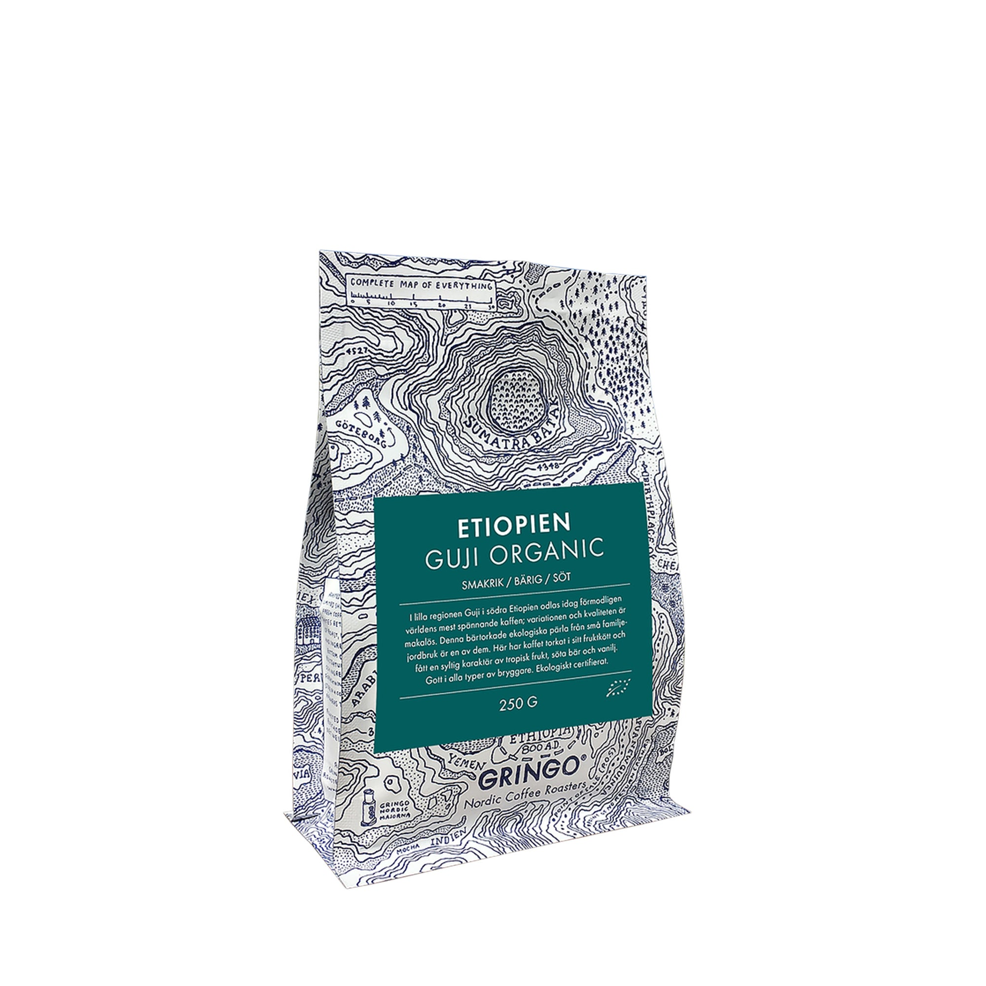 Whole Bean Coffee Guji Organic Etiopian - Gringo Roastery - Espresso Gear