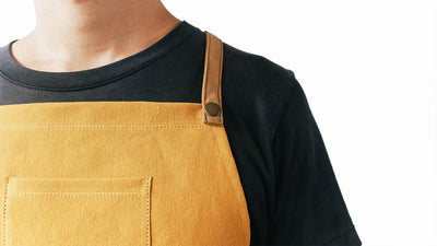Yellow Canvas Apron - Espresso Gear