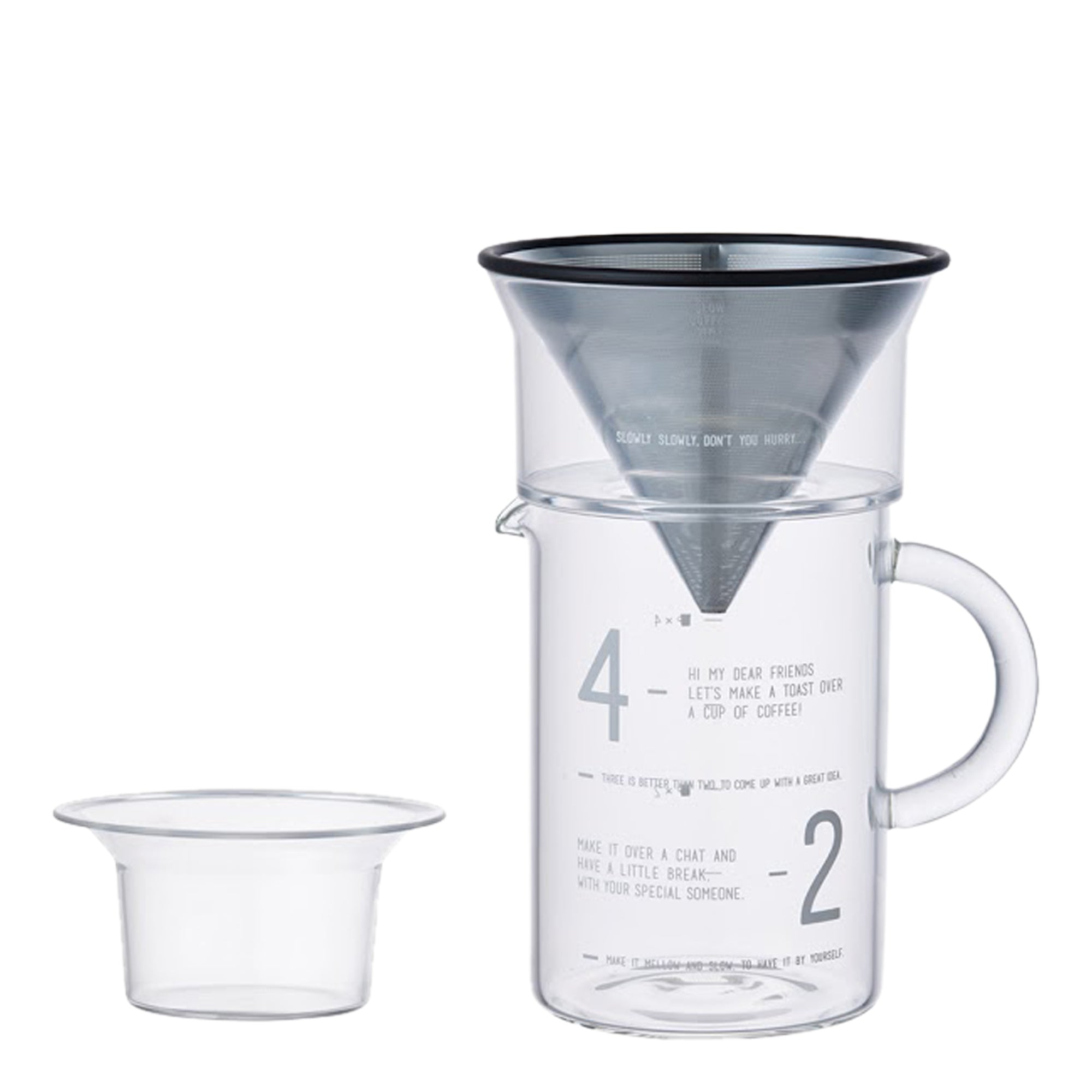 Carafe Pourover LAB  w/ SS filter 600ml - Kinto - Espresso Gear