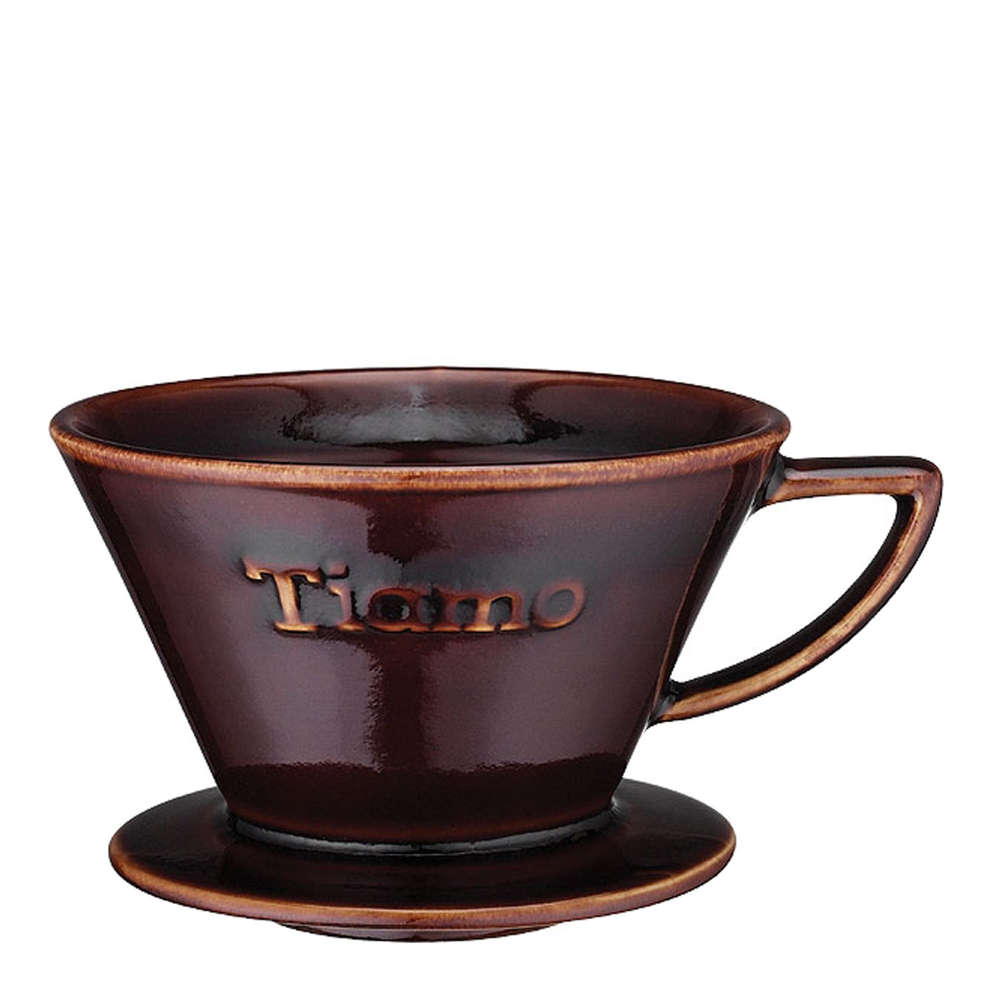 "Tiamo ""Flat Bottom"" Ceramic brown filter - Espresso Gear"