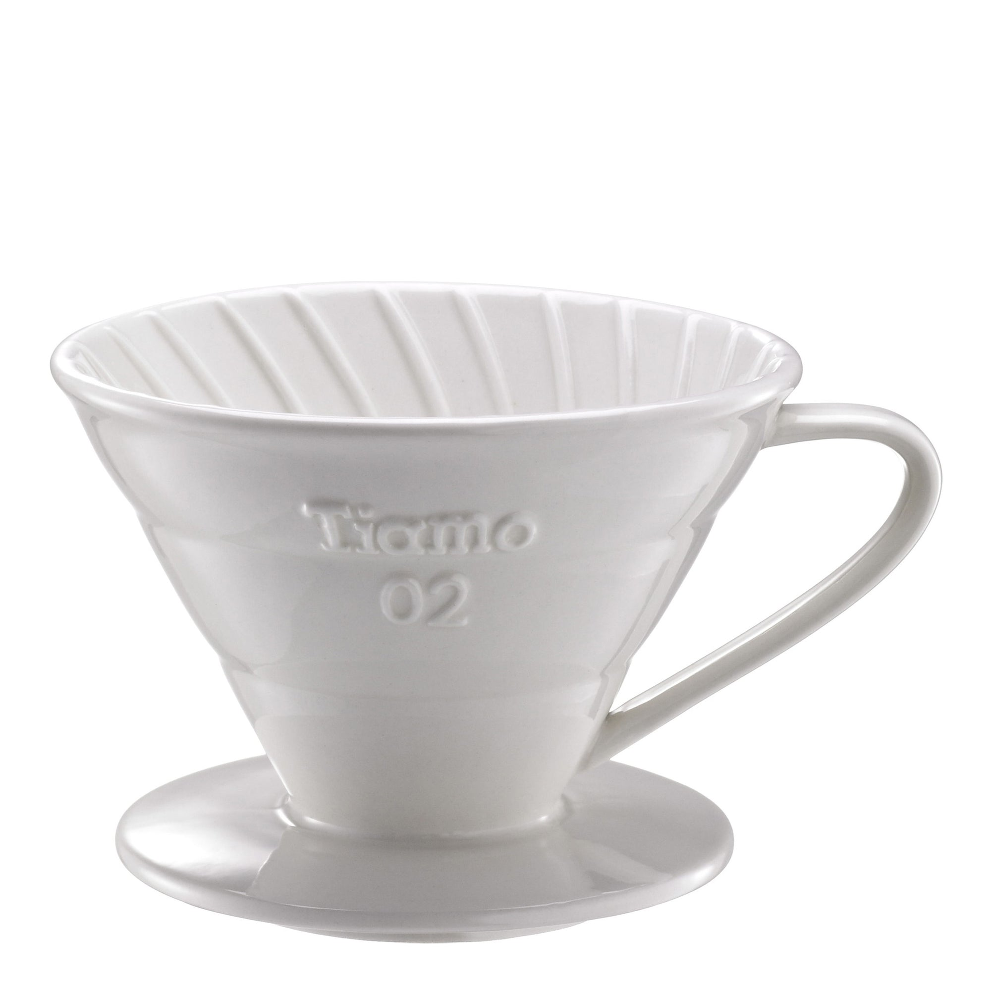 Tiamo V02 Ceramic Filter - White - Espresso Gear