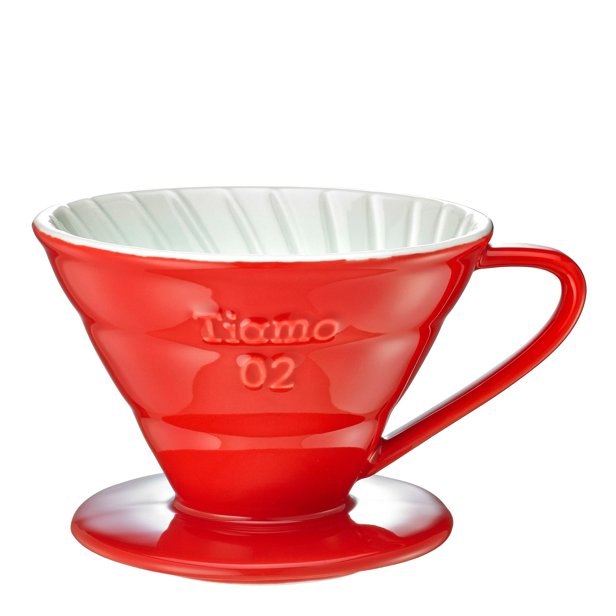 Tiamo V02 Ceramic Filter - Red - Espresso Gear