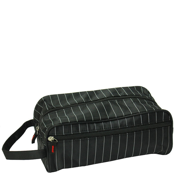 Gents stripe wash bag