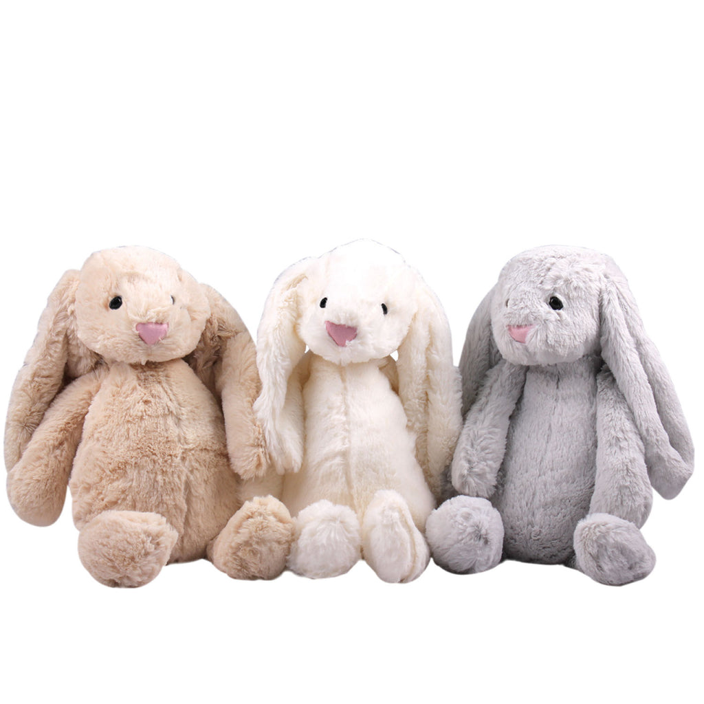 Plush Rabbit - Cotton Tail (Beige, Cream & Grey) 25cm