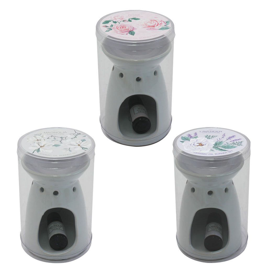 Ceramic Oil Burner with 10ml Scented Oil