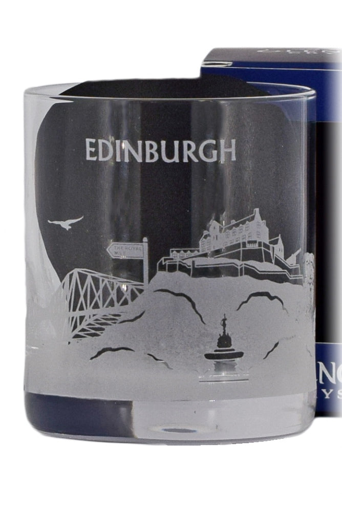 Glencairn Crystal, Skylines Collection, Edinburgh Glass in Gift Box