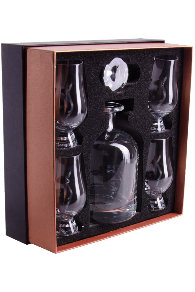 Glencairn, Presentation Box - Iona Decanter and 4 Glencairn Original Glasses