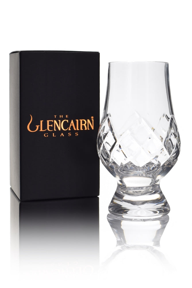 "Glencairn Cut Crystal ""Tartan"" Whisky Glass"