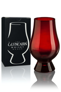 Glencairn Crystal Original RED Whisky Glass with Gift Box