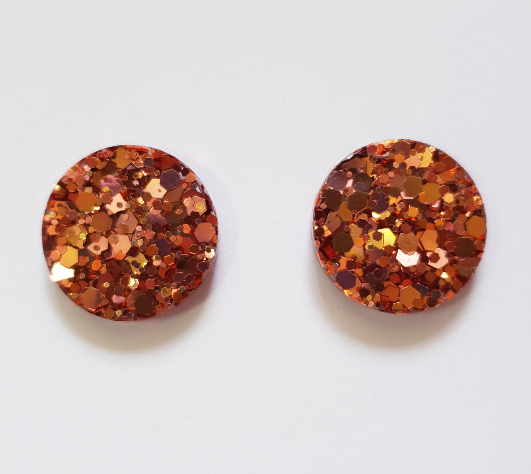 20mm Studs - Dark Rose Gold