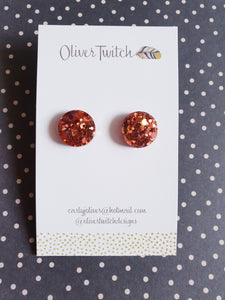 Midi Stud - Dark Rose Gold