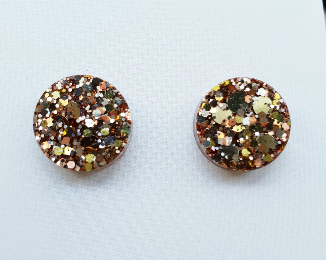 12mm Studs- Champagne Gold