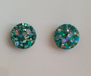 12mm Studs - Ocean Spray