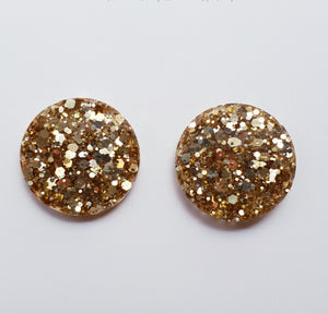 20mm  Studs - Champagne Gold