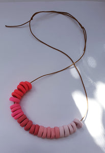Polymer Clay Necklace  - Pinks